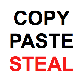 "image says ""copy paste steal"""