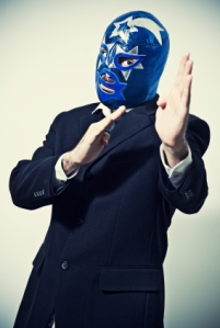 writer wrestling mask