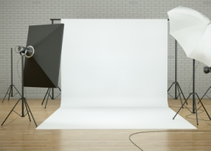 professional photo setup